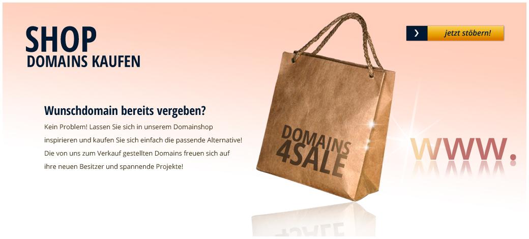 Domains kaufen -  Domainshop